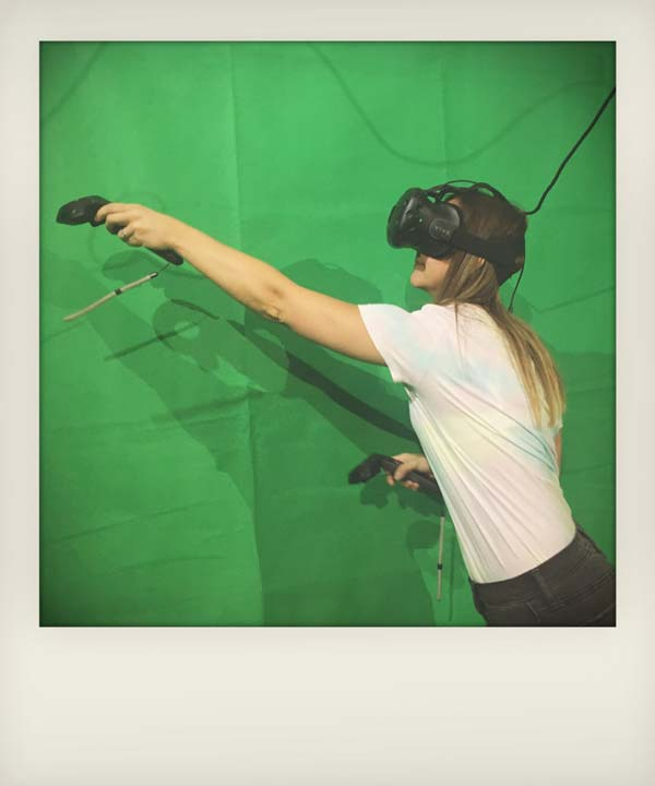 Reaching over virtual objects - VR in Liverpool