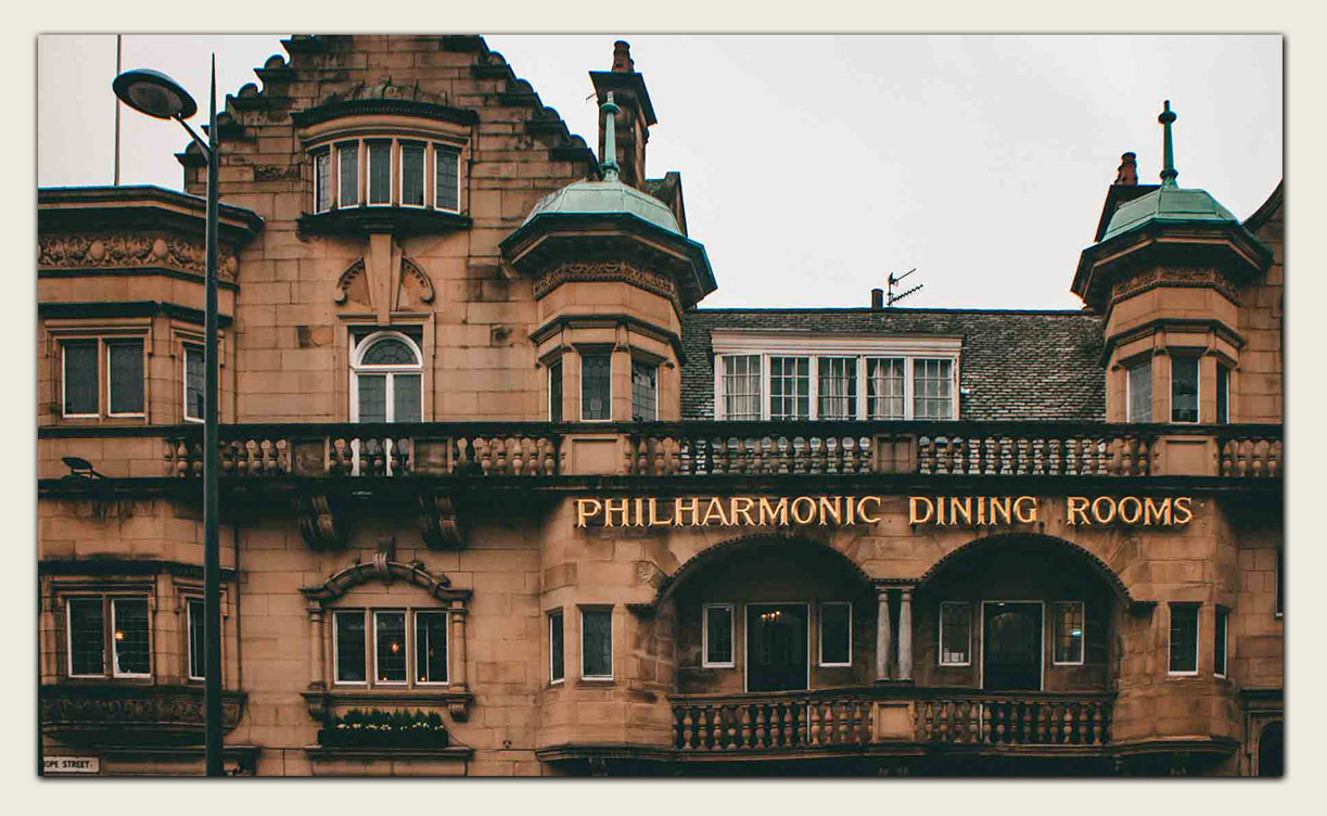 Outside the Philharmonic DIning Rooms, Liverpool