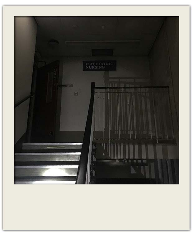 stairs to the psychiatric nursing ward in Newhsam Park Hospital