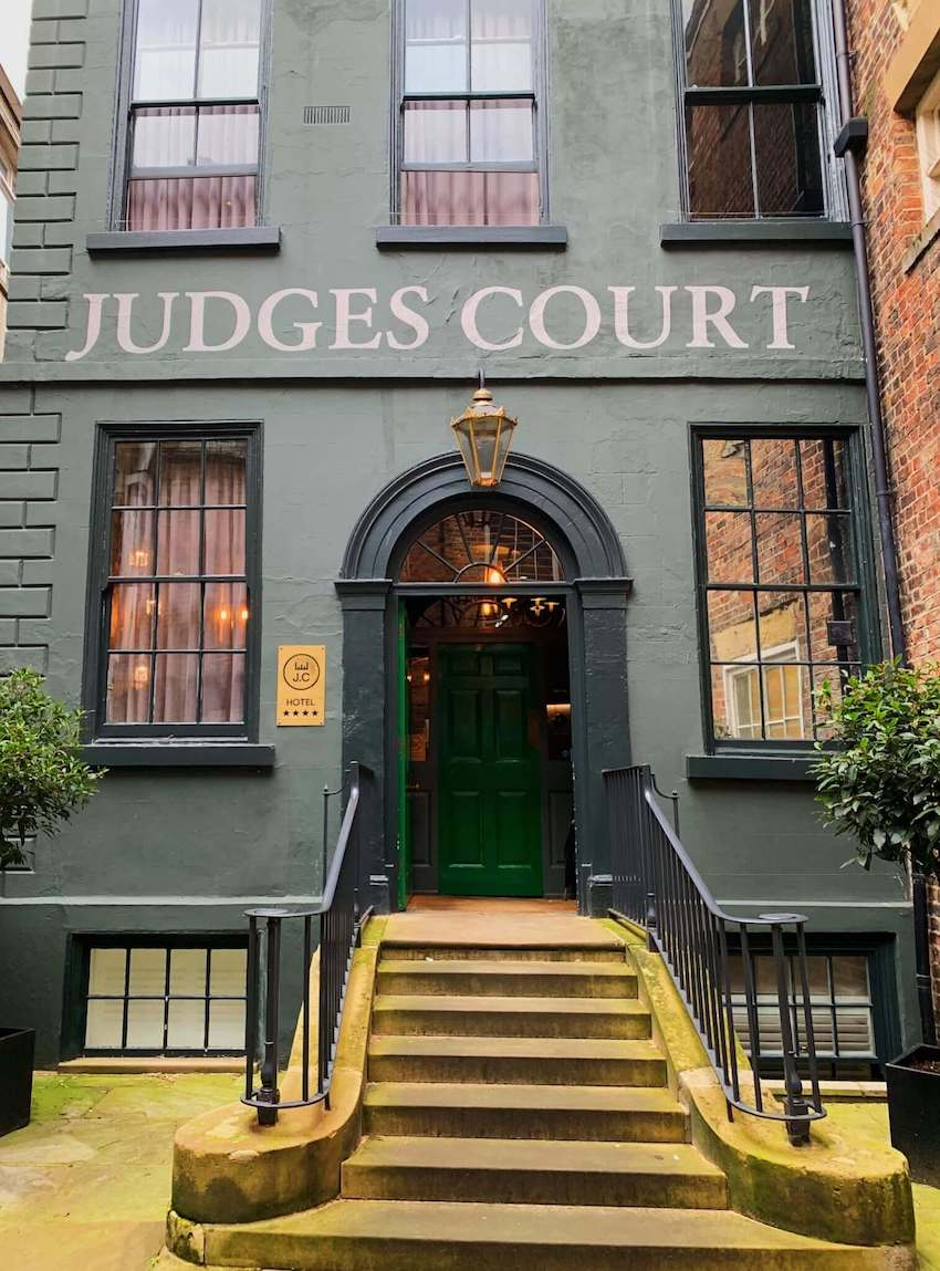 The exterior of The Judges Court Hotel, York
