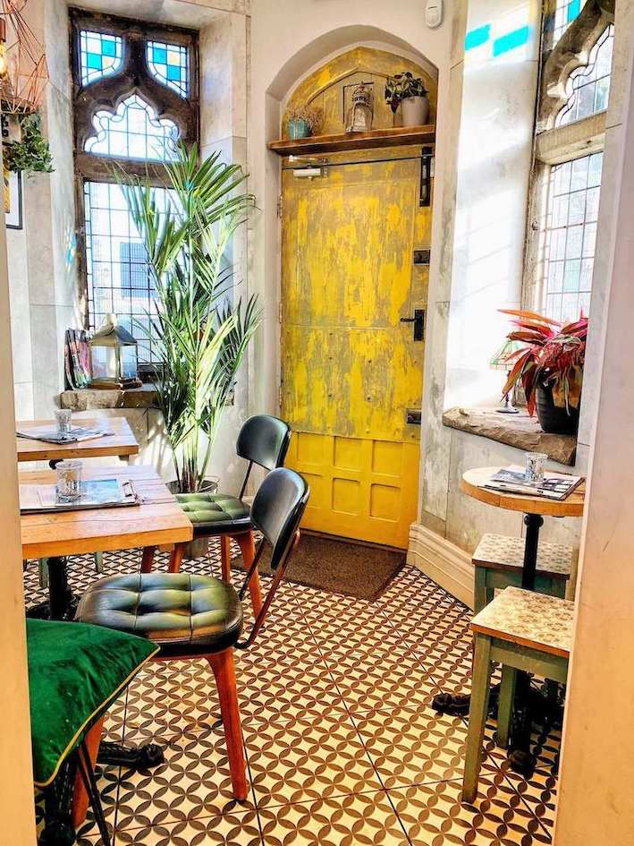 inside Dyls cafe, York