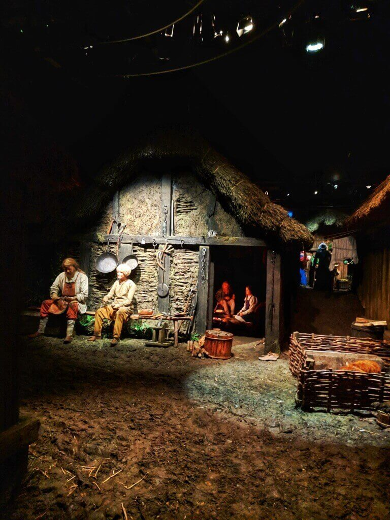 displays of Viking York from the time cart ride in Jorvik Viking Museum