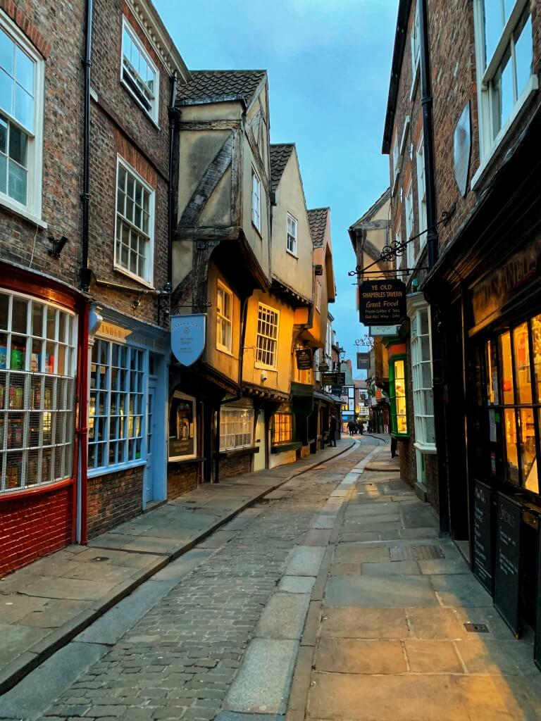 The Shambles in the evening with no crowds
