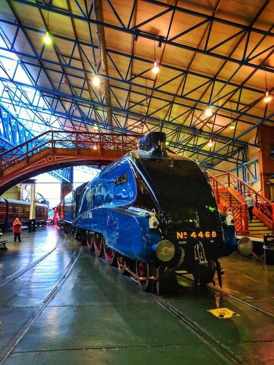 a train inside York Railway Museum