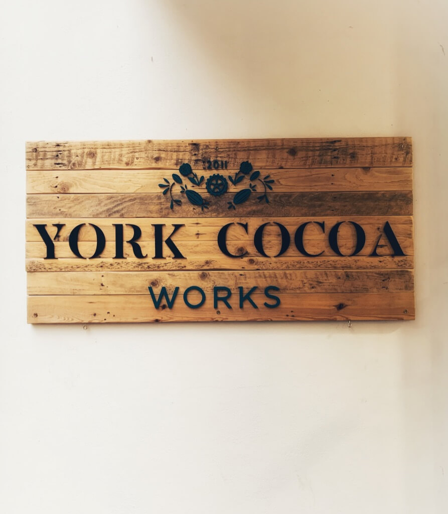 York Cocoa Works shop sign