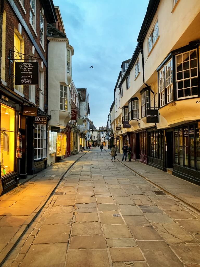 an empty street in York, England