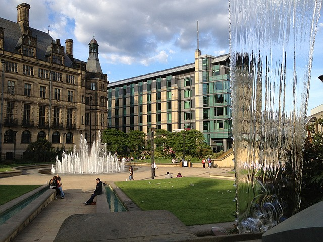 VIEW OF THE PEACE GARDENS IN SHEFFIELD