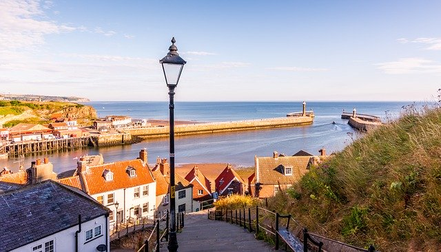 VIEW OF WHITBY HARBOUR TAKEN ON A DAY TRIP FROM YORK