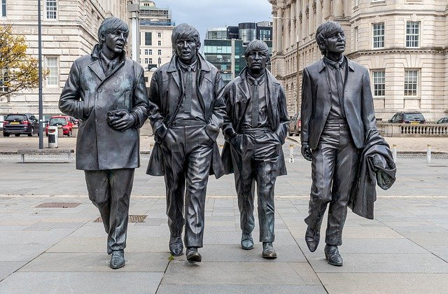 The Beatles Statue on Liverpool Waterfront