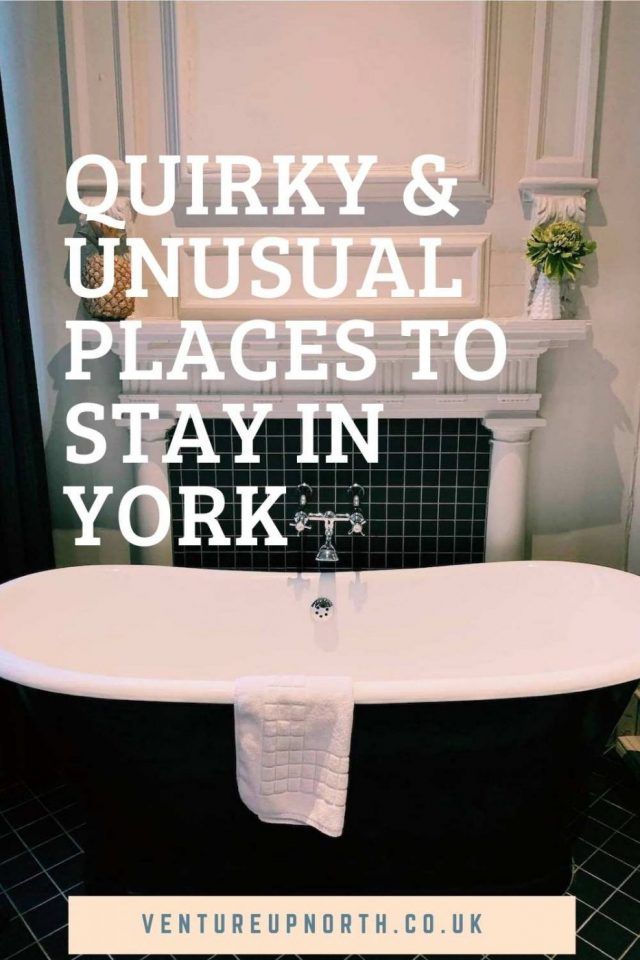 Want to stay somewhere a bit different in York? Click here for the best quirky and unusual places to stay in York! #york #yorkshire #yorkhotel