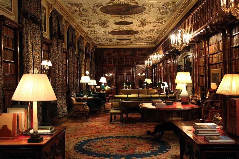 the grand decorative interior of Chatsworth House, Peak District