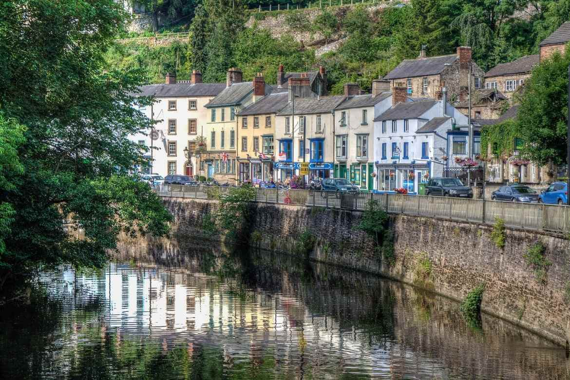 a view of a row of terrace shops in Matlock Bath