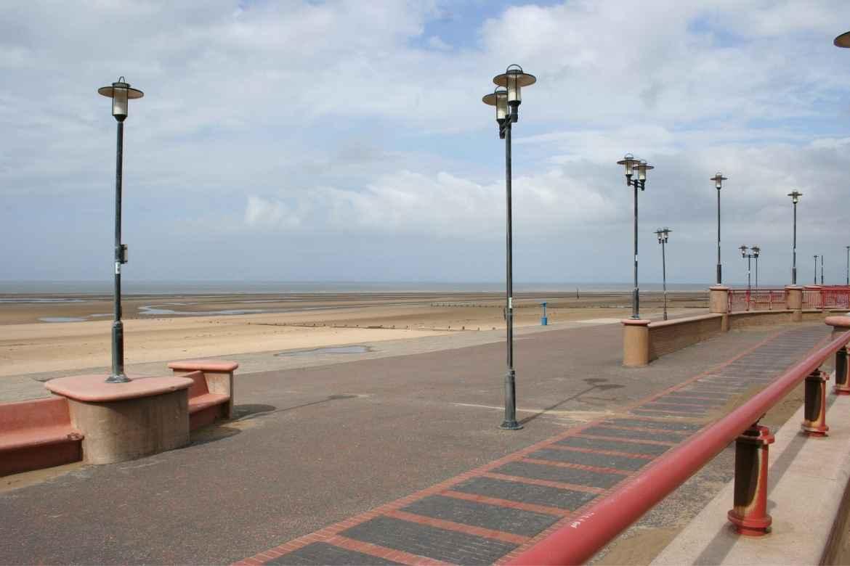 Rhyl walk way in front of the beach