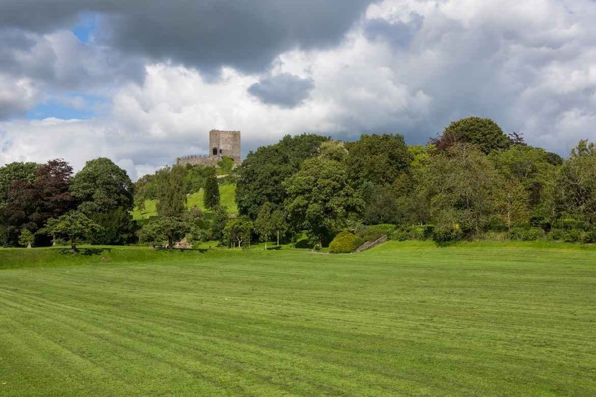 Clitheroe Castle from a distance