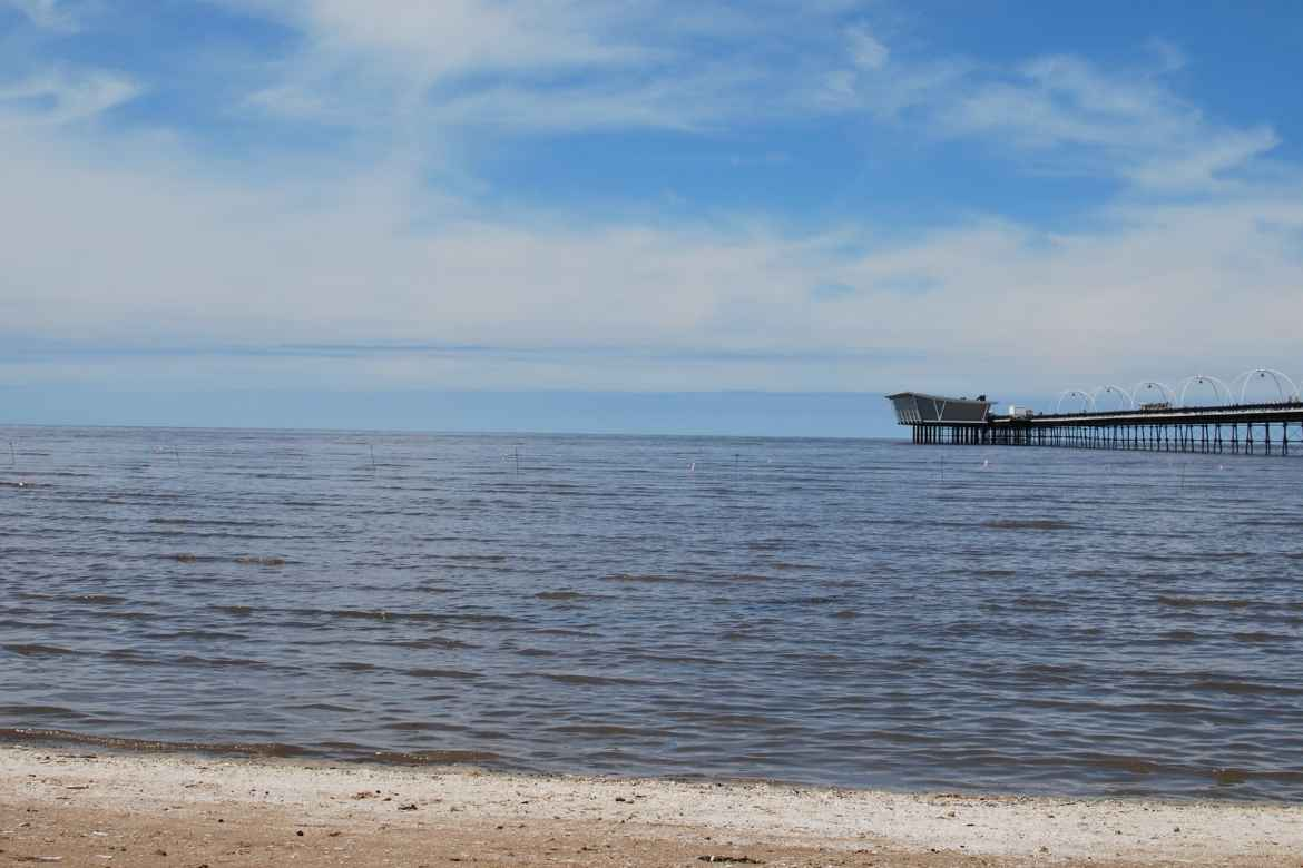 view of Southport pier from the beach
